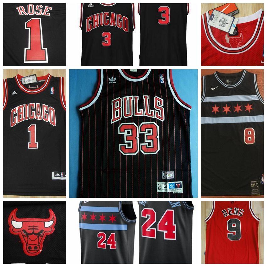 super popular 40777 dcd53 Chicago Michael Bulls Basketball Jerseys Scottie Pippen Dennis Rodman Red  White Black Stitched Shorts