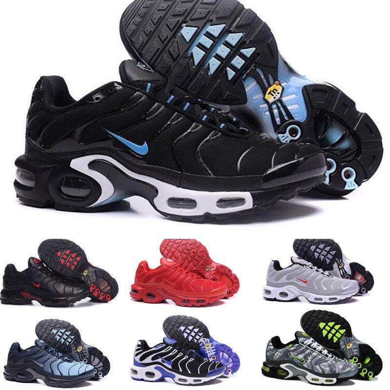 Großhandel Nike Air TN Plus 2019 Billig TN Plus Ultra Laufschuhe Schuhe Klassische Outdoor Laufschuhe Tn Schwarz Weiß Herren Requin Oliv Silber Sport
