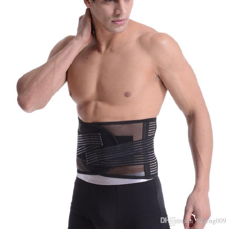 75b169db721 2019 Sports Fitness Waist Support Slimming Belly Shaper Sweating Waist Band  Elastic Pressure Bandage Adjustable Belt Training For Men  746593 From ...