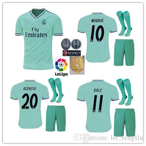 7a9b5b4fb 2019 19 20 Real Madrid Club De Fútbal Soccer Jersey Shorts 2019 Ronaldo  ASENSIO Bale Kroos Football Kits ISCO Camiseta De Fútbol Football Shirt  From ...