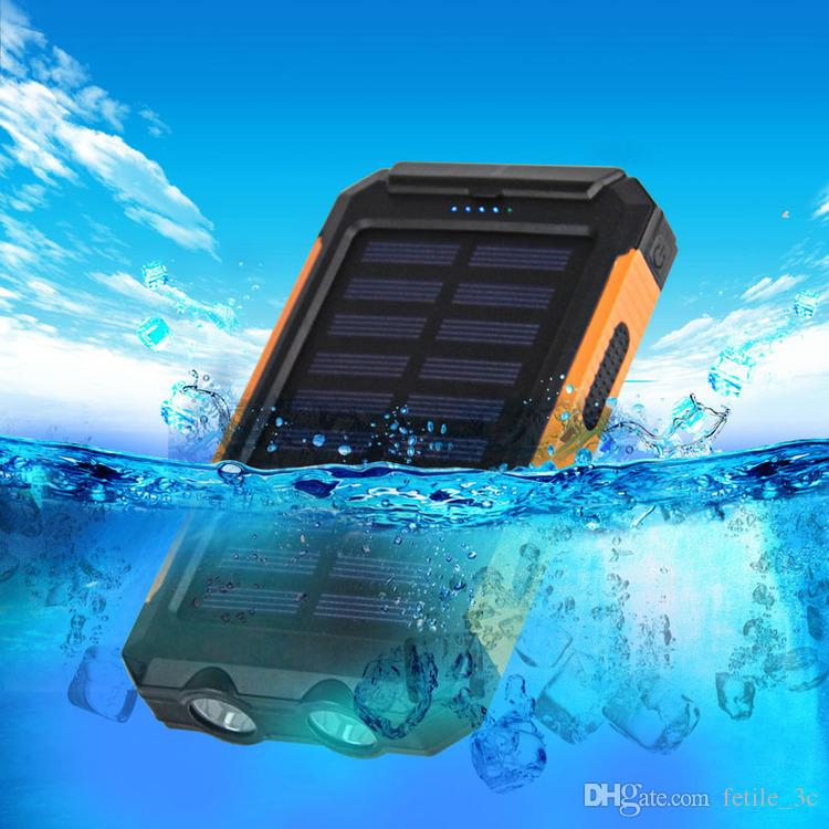 2018 NEW Waterproof Solar Power Bank 20000mah Dual USB Li-Polymer Solar Battery Charger For iPhone 7 6 5 S for Xiaomi Mi for Samsung