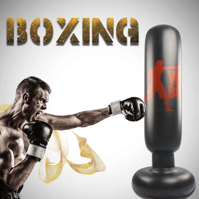 Lo stress 1.6M gonfiabile Punching Bag Torre Boxe Fitness Training Punching Bag Boxing homehold decompressione Sandbag con pompa