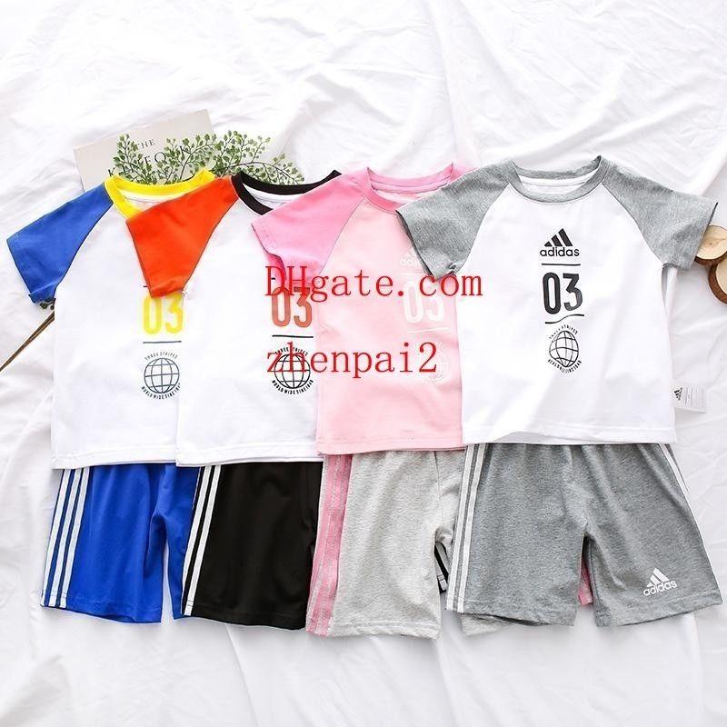 Kinder Trainingsanzug Jungen Mädchen Kleidung Set Kinder Baumwolle Shorts T Shirts und Shorts Sommer