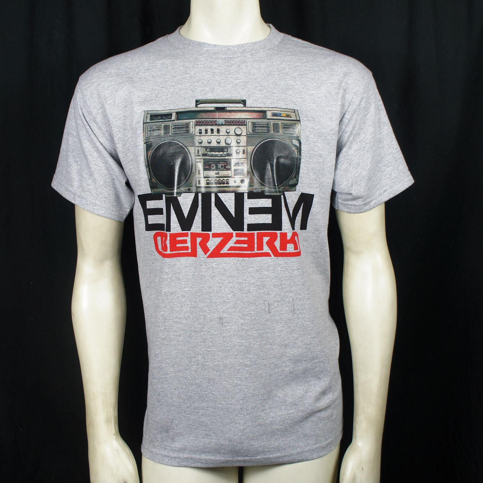 Authentique T-shirt Slim Shady Logo EMINEM Boombox Berzerk S M L XL XXL NEUF
