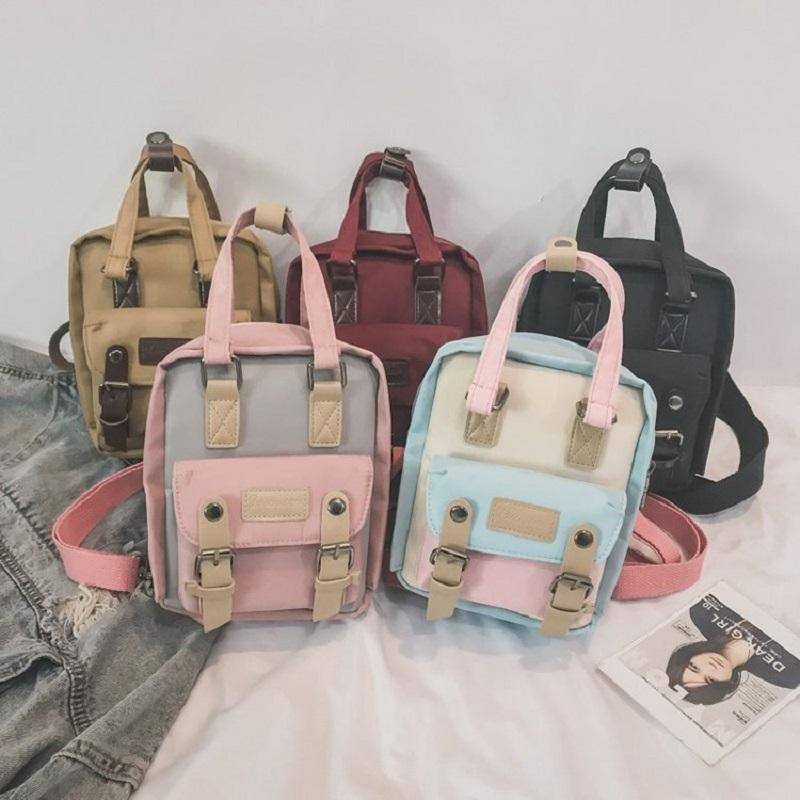 8a70b197a055 2019 Hot New Fashion Women Korean Solid Color Shoulder Bags Female Oxford  Cute Simple Mini Students School Backpacks