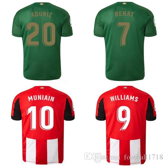 25d42a68 19 20 Athletic Bilbao Club Home Camisetas De Fútbol 2019 2020 Aduriz  Williams Sola Muniain Camisetas De Fútbol Hombre Niños Kit Uniforme De  Fútbol Por ...