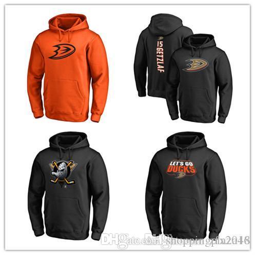 new arrival 35ff0 fef83 Anaheim Ducks Fanatics Brand Black Ash Orange Gray Men s Sport Hoody  Primary Logo Pullover Hockey Hoodies long Sleeve Outdoor Wear Stit