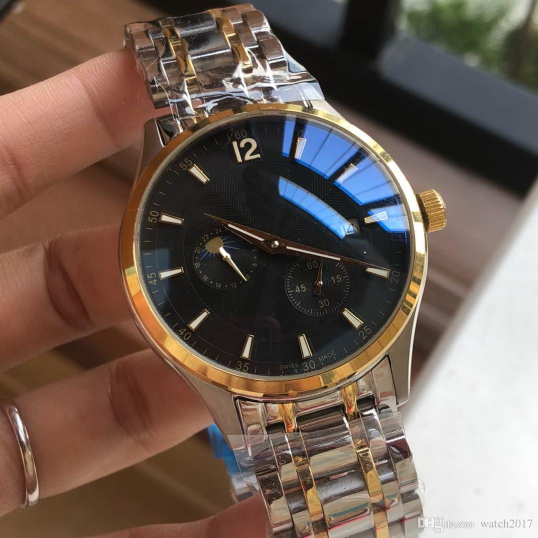 2019 Gift Date Very Nice Cheap Hot Multi Color 40mm Bezel Fashion Men Watch Wholesale Luxury Rand New Stainless Steel Mens Watches
