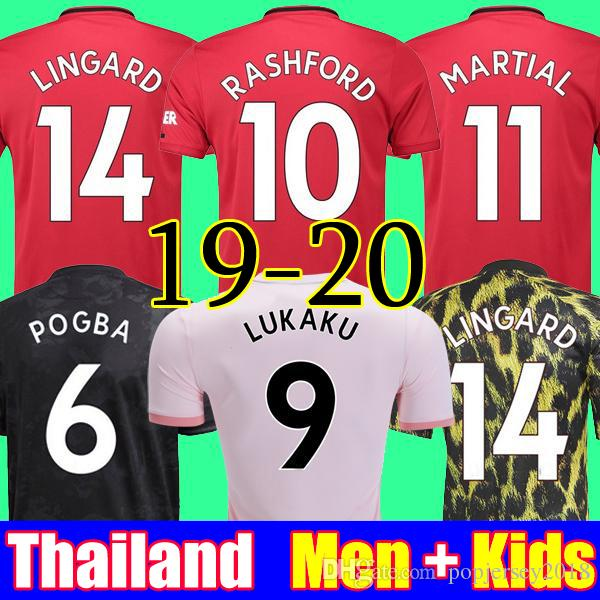 fc05e3708 2019 Thailand POGBA LINGARD 18 19 20 Manchester Soccer United Jerseys Utd  2019 2020 RASHFORD Football Kit MARTIAL Jersey Shirt Men And Kids Sets From  ...