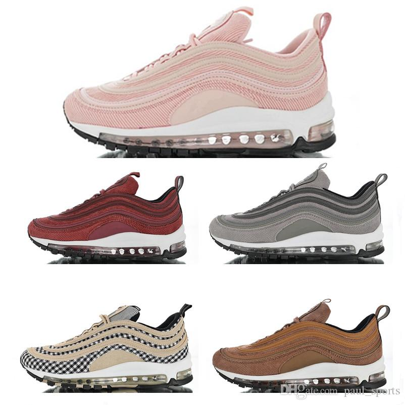 465d702078205f 97 QS Ultra Corduroy Brown Pink Grey Running Shoes For Top Quality 97s  Black Yellow Men Women Trainers Outdoors Sneakers Size 36 45 Girls Running  Shoes Hoka ...