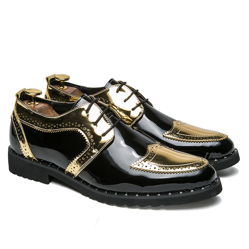 0852dce6 Compre 2019 Nuevos Zapatos De Moda Para Hombre Zapatos De Tendencia Juvenil  Zapatos De Cuero Grueso Grueso 38 48 Yardas Envío Gratis D2275 A $32.17 Del  ...