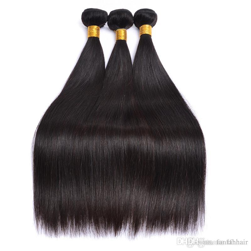 Lucky Queen Straight Brazilian Hair Weave Bundles Deal Human Hair Extension Vendors 10 To 26 Inch Remy 100% Human Hair Bundles