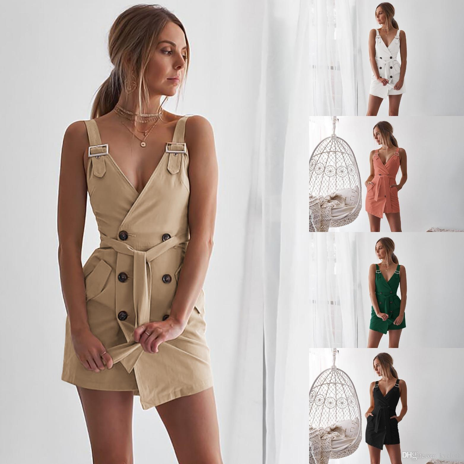 Women's Clothing Long Blouse Dress Sexy Irregulate High Waist Dress With Belt Fashion Elegant Dress Vintage Party Khaki Dresses Korean 2019
