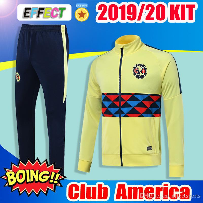 383707b7cd7 2019 2019 2020 Club America Soccer Jacket Kits 18 19 20 LIGA MX Club  America Soccer Training Suits Camisa De Futebol Tracksuit Football Shirts  From ...