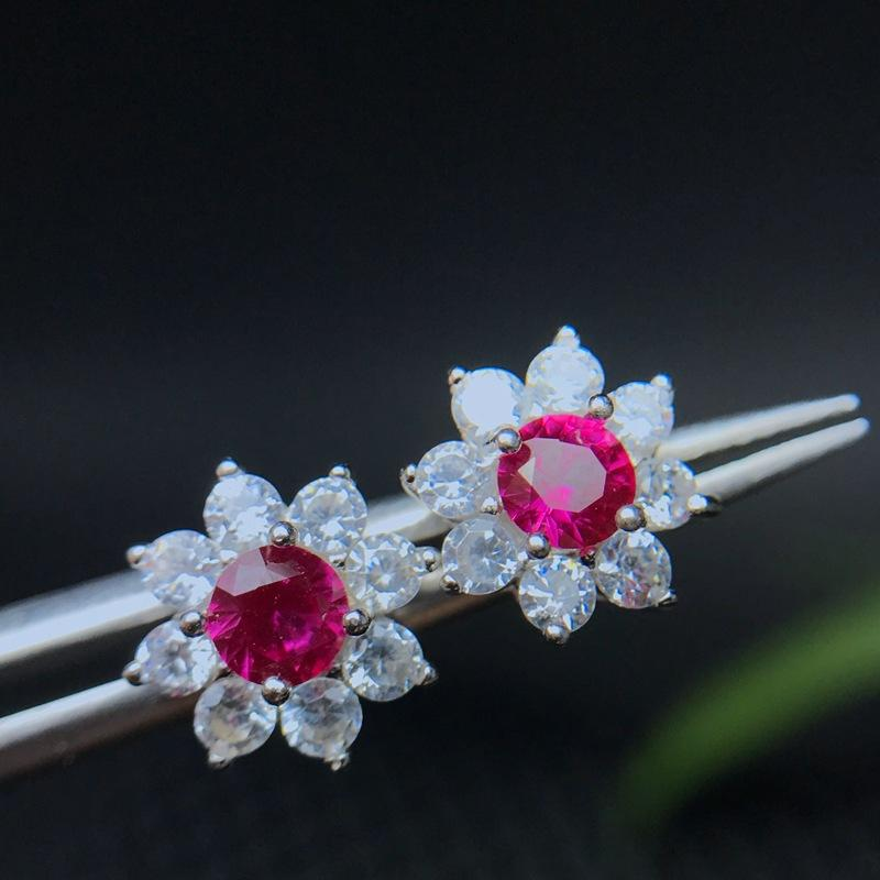 Special sale Ruby Earrings 925 sterling silver hot seller strongly recommend including certificate
