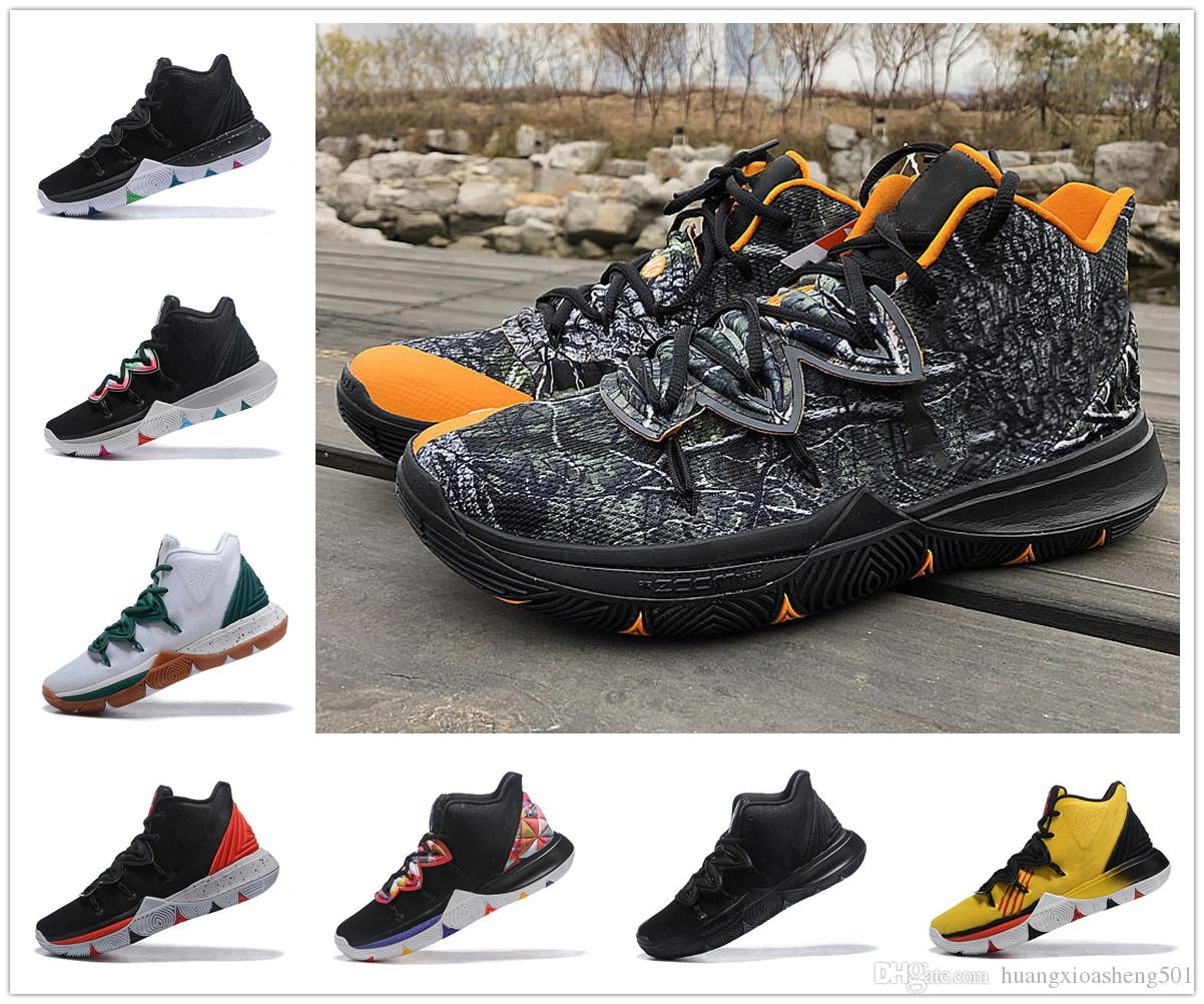 1c1cb7aacd48 2019 2019 Kyrie Men 5 Basketball Shoes Taco Irving 5s Sneakers Sports Mens  Shoe Wolf Grey Team Red Outdoor Trainers BasketBall Shoes From  Huangxioasheng501