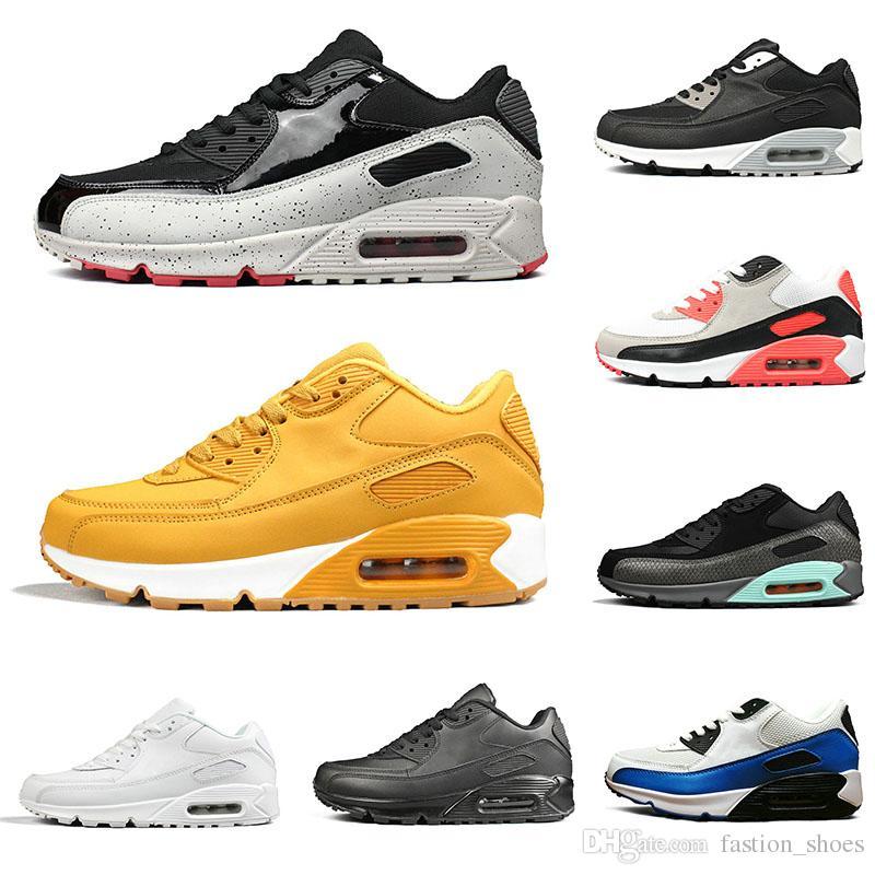 nike air max 90 airmax 90s Zapatillas de tenis clásicas Zapatillas de correr de los años 90 para hombre para mujer triple negro blanco EE. UU.