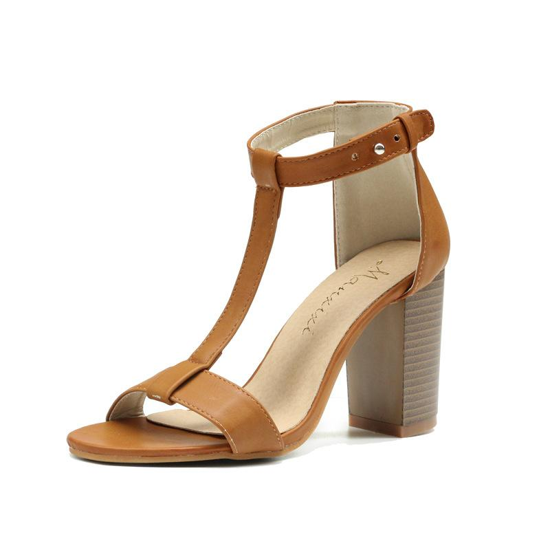 ce403ff6141 New Summer Women Sandals T Tied Block High Heels Shoes Ladies Fashion Open  Toe Gladiator Big Size Sandalias Mujer Jelly Sandals Platform Sandals From  ...