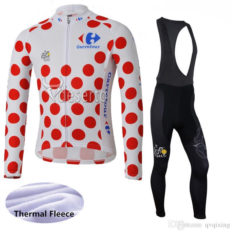 debf4de81 Hot Sale Tour De France Men Long Sleeve Cycling Jersey Kit Winter Thermal  Fleece Racing Bike Clothing Warmer Road Bicycle Sport Wear Y021613 Cycling  ...