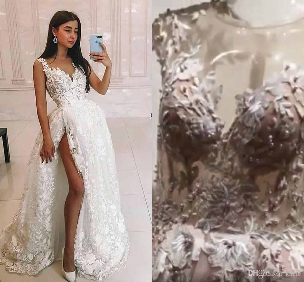 Boho Blush Pink Wedding Dresses 2017 Pretty 3d Flower Lace: Discount Luxury Lace Beaded Princess Wedding Dresses With