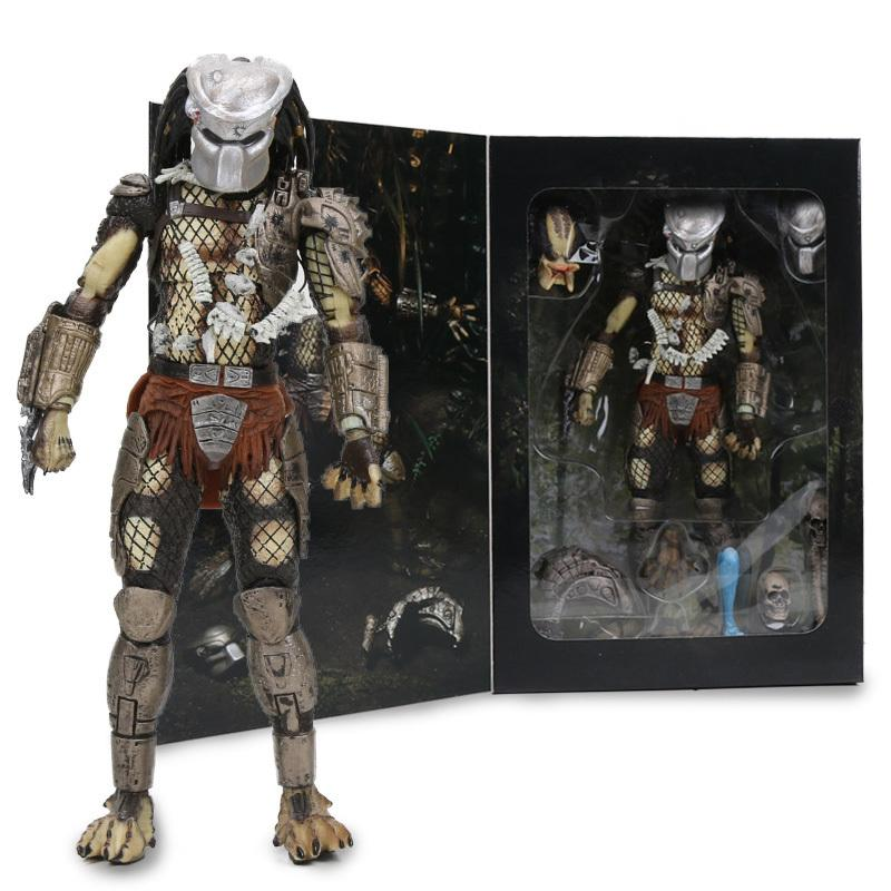 "7.8"" Neca Predator Ultimate 30th Anniversary Pvc Action Figure Jungle Hunter Unmasked Collectible Model Doll Toys C19041501"
