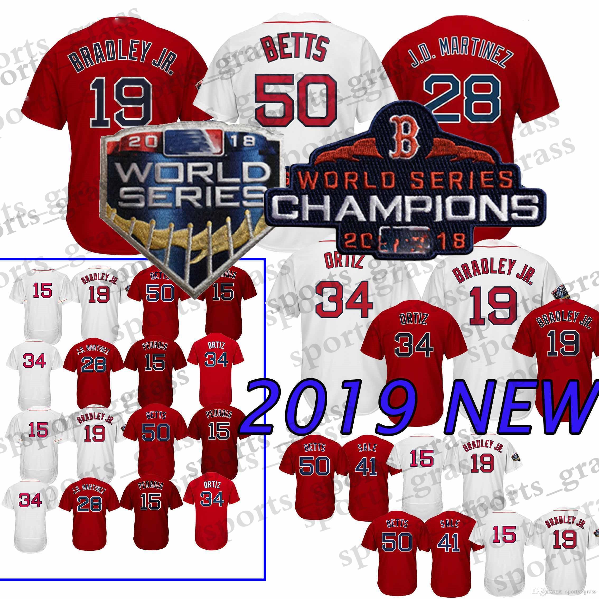 2019 50 Mookie Betts Boston Red Sox Jerseys 34  16 Andrew Benintendi 28 J D  Martinez J.D. 19 Jackie Bradl 9 Ted Williams Jersey From Sports grass 9994b4081f3