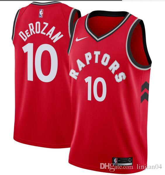 big sale e749c 7d6ba Basketball jersey Demar derozan raptors 10 jersey hot-pressing authentic  basketball jersey Black, white