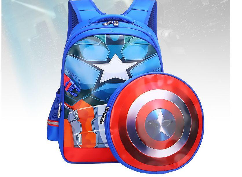 d1fa0856a2d8 New American Captain Spider-Man Primary School Student s Bookbag ...
