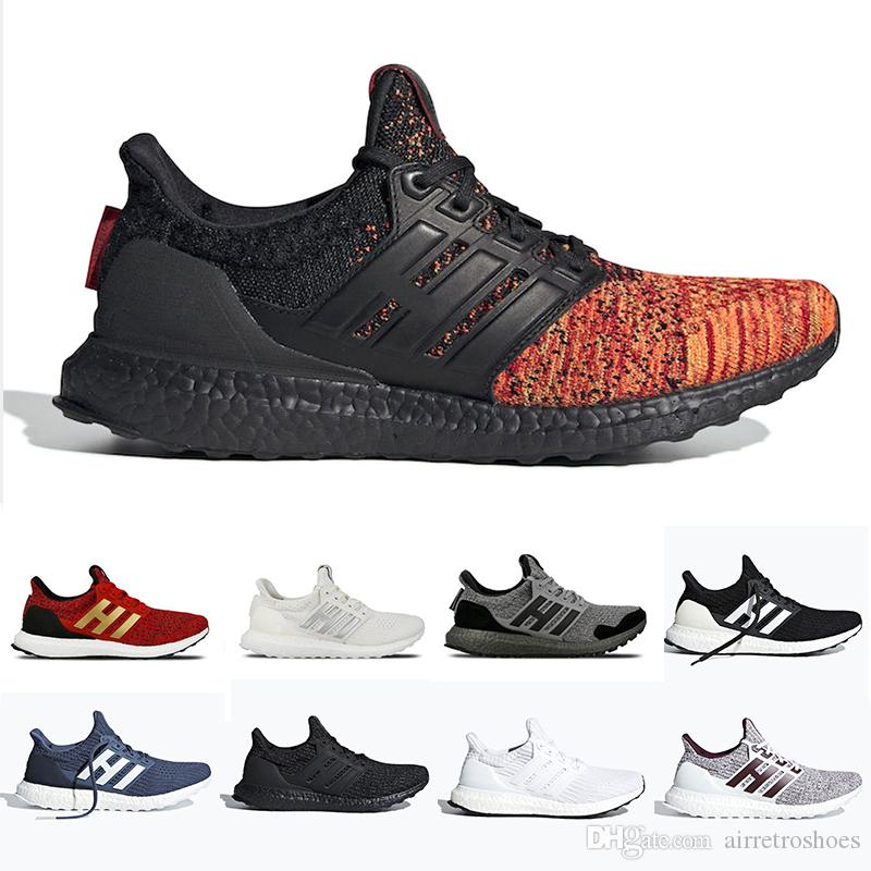 detailed look fe008 be4c0 Red Stripes Game of Thrones Ultra boost 4.0 Ultraboost mens Running shoes  Orca White Burgundy Primeknit sports trainers men women sneakers