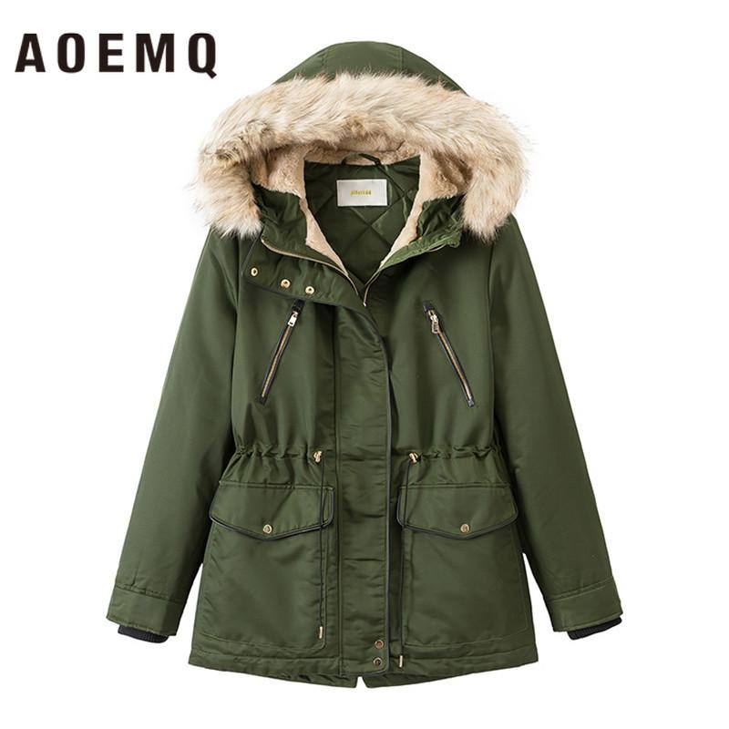 Parkas Parkas Women O-ring Decorate Elasticity Cuff Hooded Trendy Female Winter Short Coat Korean Style Simple Soft Sweet Thicker Warm Jackets & Coats