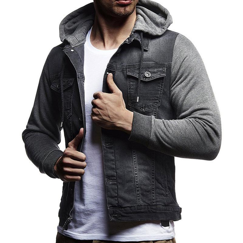 d6f9920221594d Acquista Moda Denim Jeans Jacket Uomo Con Cappuccio Casual Moda Jeans  Giacche Felpe Cowboy Mens Plus Size Abbigliamento Sportivo All'aperto A  $43.46 Dal ...