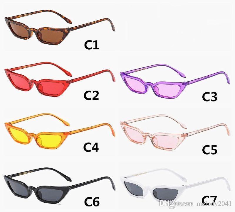 6b5f093122 DHL Free Ship Sharp Cat Eye Women Sunglasses Slim Frame Women Sun  Eyeglasses UV400 Plastic Candy Colors Rim Metal Hinge Police Sunglasses  Serengeti ...