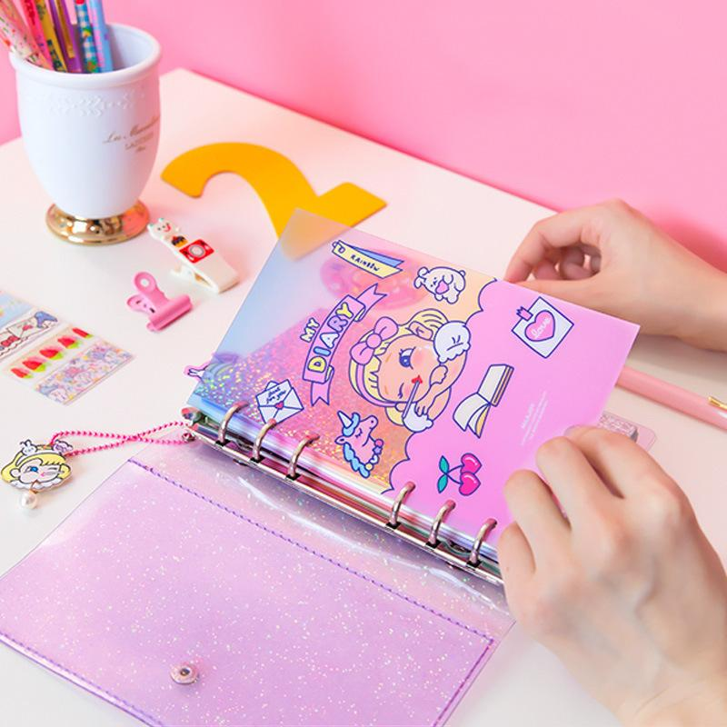 photo regarding Diy Planner Organizer known as Kawaii Laptop computer For Women Diary Planner Organizer Do it yourself Agendas A6 Be aware Guide Spiral Binder Person Bullet Magazine Dot Sketchbook