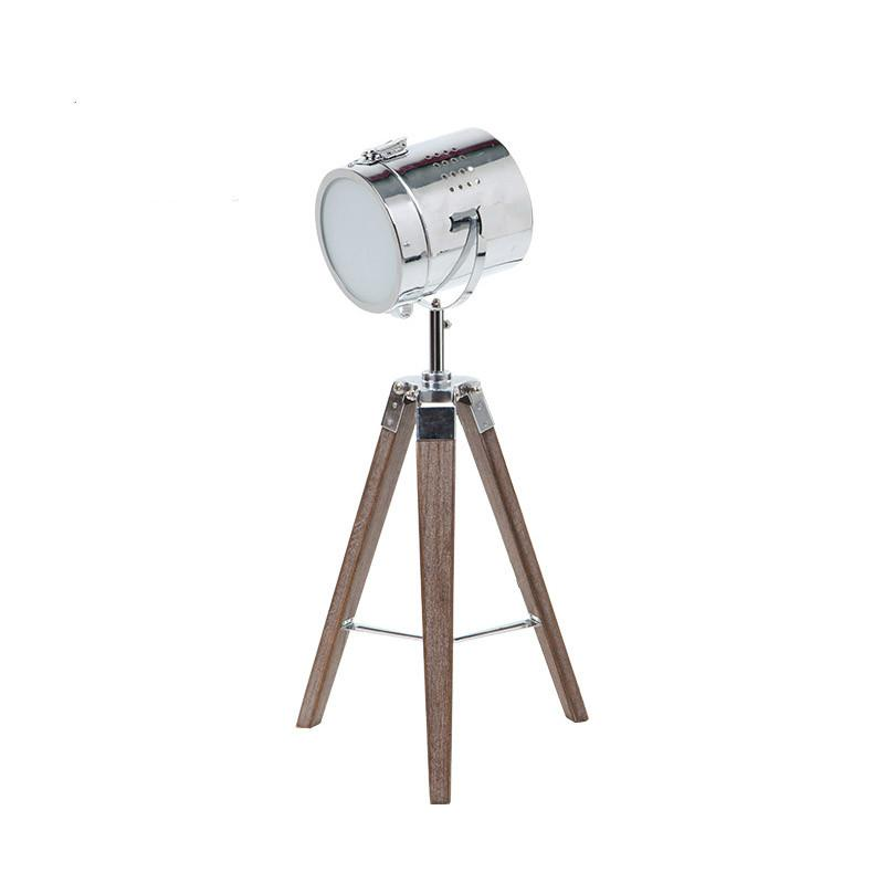 2019 Nordic Wood Tripod Table Lamps Vintage Handmade Desk Spot Light