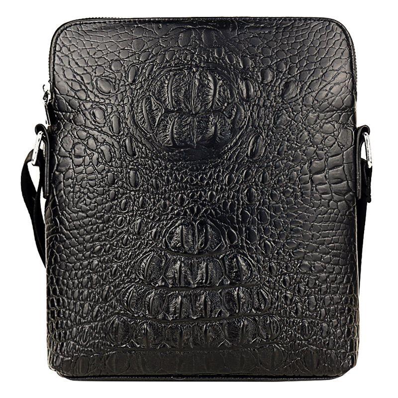 a9aca900ae4 GUBAIYU Genuine Leather Crossbody Briefcase Mens Trendy Handbag Bag Soft  High Quality Messenger ShouldBag Business Bag Crocodile Cheap Purses  Wholesale ...