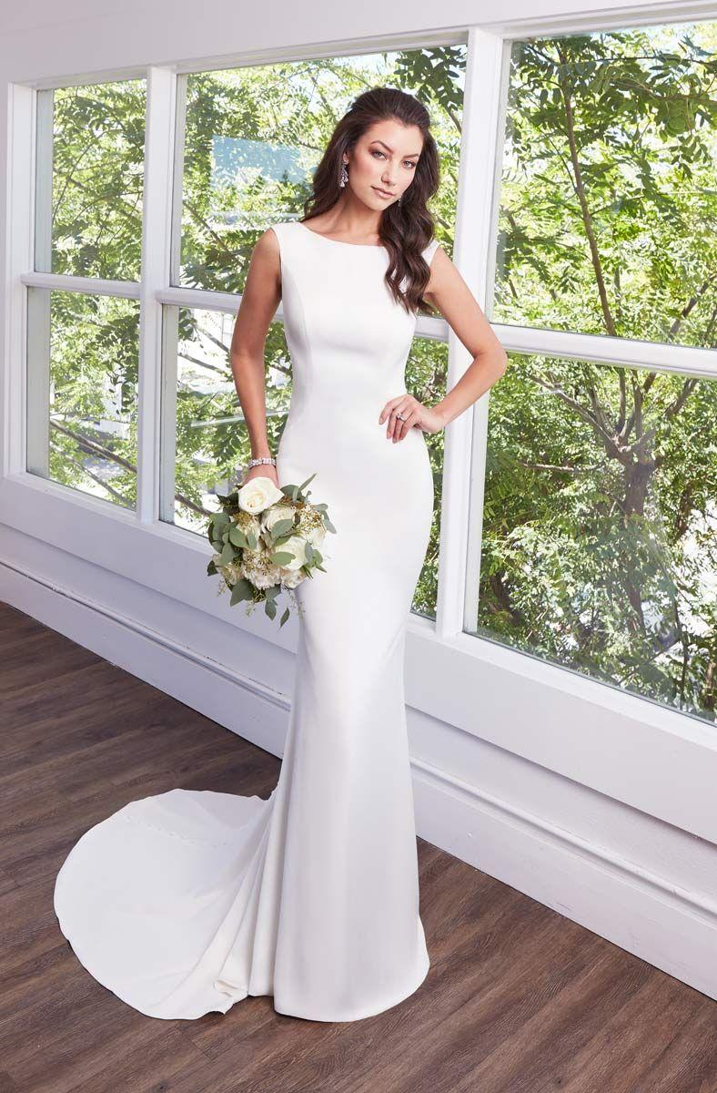 Simple Beach Wedding Dresses Cheap Scoop Neckline Cap Sleeve Sheer