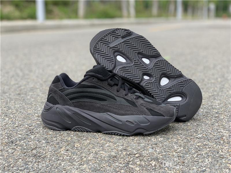 51a191ae4 2019 2019 Authentic 700 V2 Vanta FU6684 Wave Runner Kanye West Black 3M  Running Shoes Men Women Static Inertia Sneakers Sports With Original Box  From ...