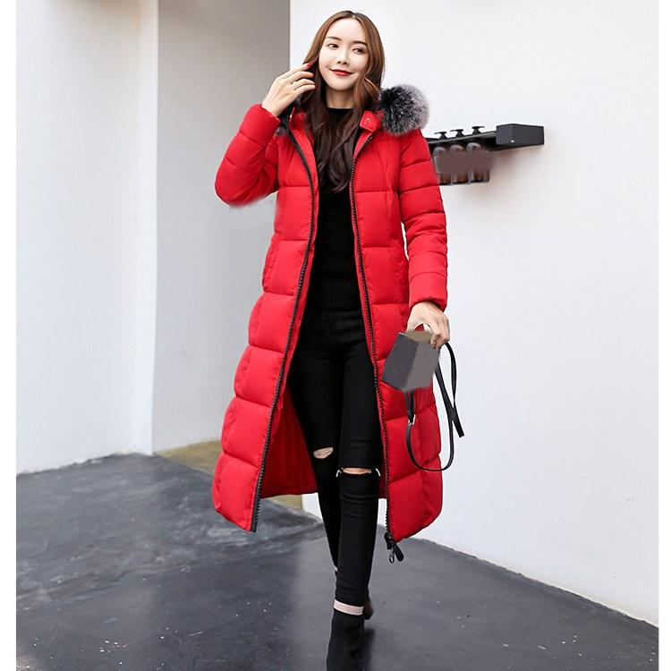 f425500a2 2018 Women Hooded Warm Coat Winter Jackets Big Fur Collar Long Parka Cotton  Padded Jacket Wadded Plus Size Coat