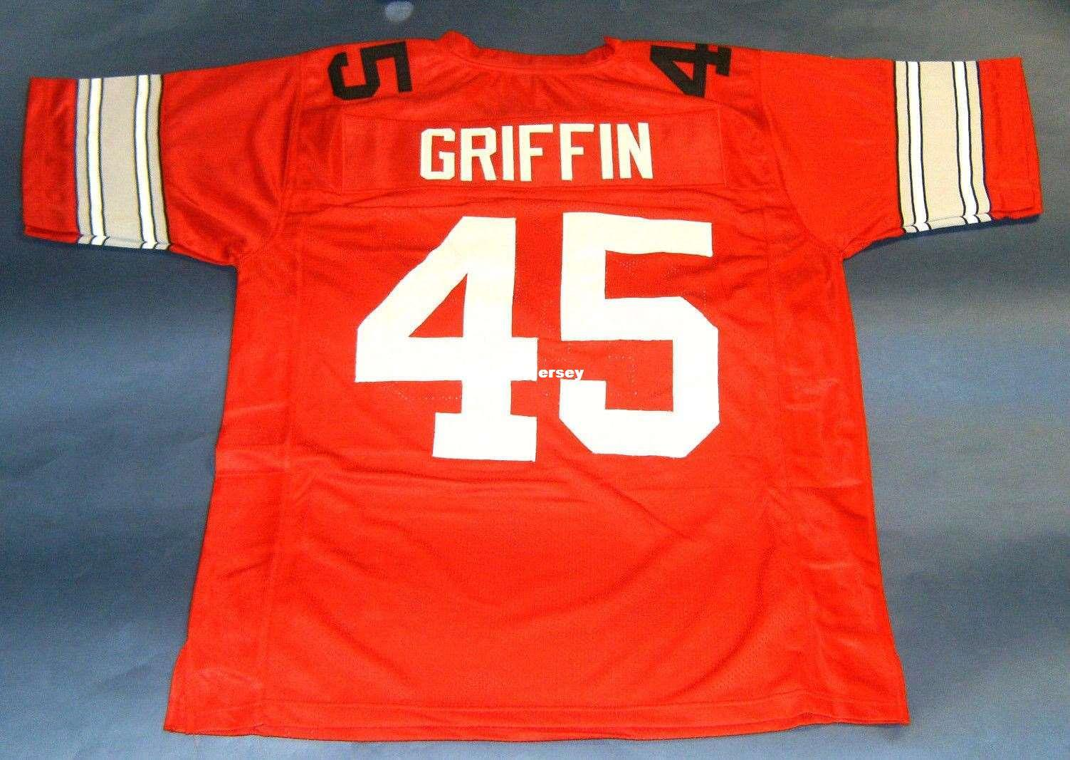 2019 Cheap Retro  45 ARCHIE GRIFFIN CUSTOM OHIO STATE BUCKEYES JERSEY OSU  HEISMAN College RED Mens Stitching College Size S 5XL Football Je NCAA From  ... 9741b9a28