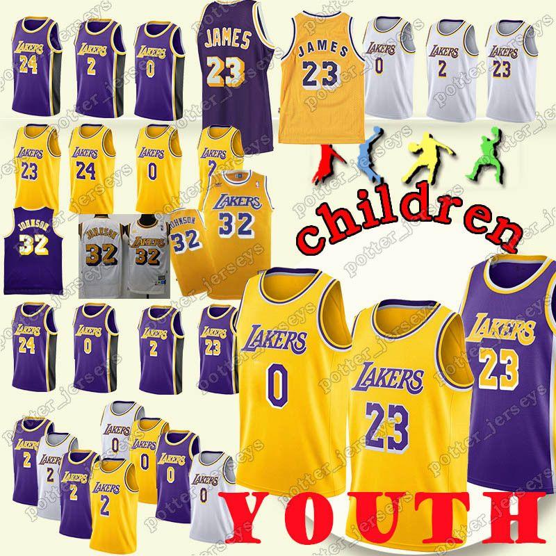 67f9a48150b YOUTH Los Angeles 23 LeBron James Laker 24 Kobe Jerseys Bryant 0 ...