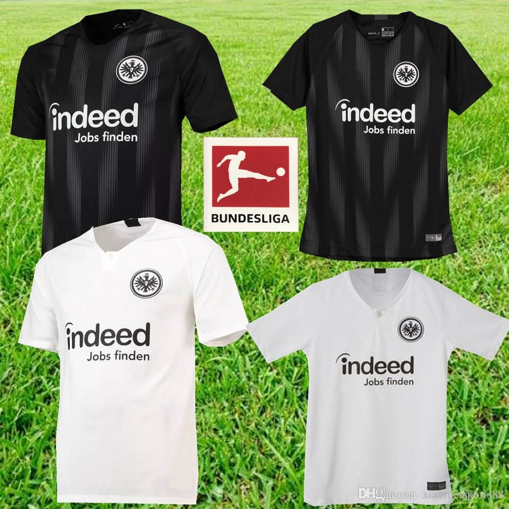 07cbc9b8f Camiseta De Fútbol Local De Visitante Del 2018 2019 Eintracht Frankfurt 18  19 Frankfurt Europa League HALLER JOVIC REBIC Camisetas De Fútbol Por ...
