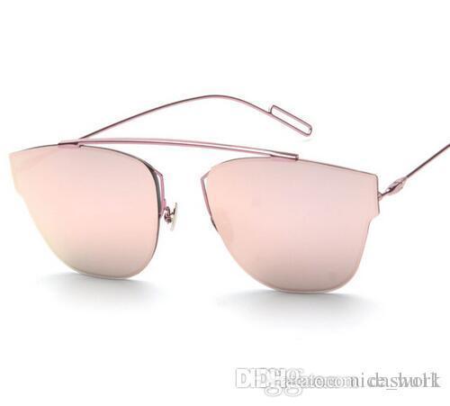 62955eb538 Brand Sunglasses-New Luxury Brand Designer Flat Top Mirror ...