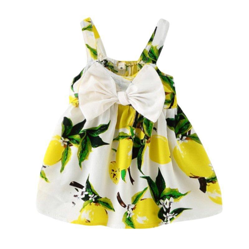 394959e58d96 2019 Baby Girl Dress Summer Kids Dress For Girls Clothes Fruit ...