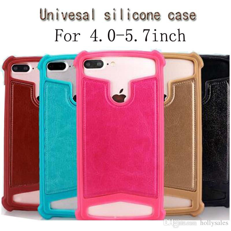 High quality silicon universal smart phone case with 4sizes for choose to fit 4.0 to 5.7inch smart phone for samsung iphone cellphone case