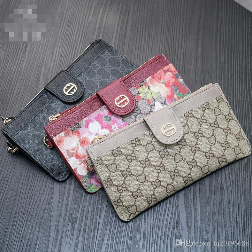 2019 new women's purse long style multi-card large capacity wallet printed simple zipper hand bag wallet trend