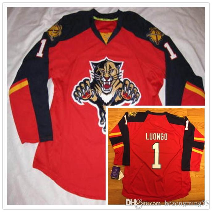 Free Shipping Mens 1 Roberto Luongo Florida Panthers Hockey Jersey Embroidery Stitched Customize Any Number And Name