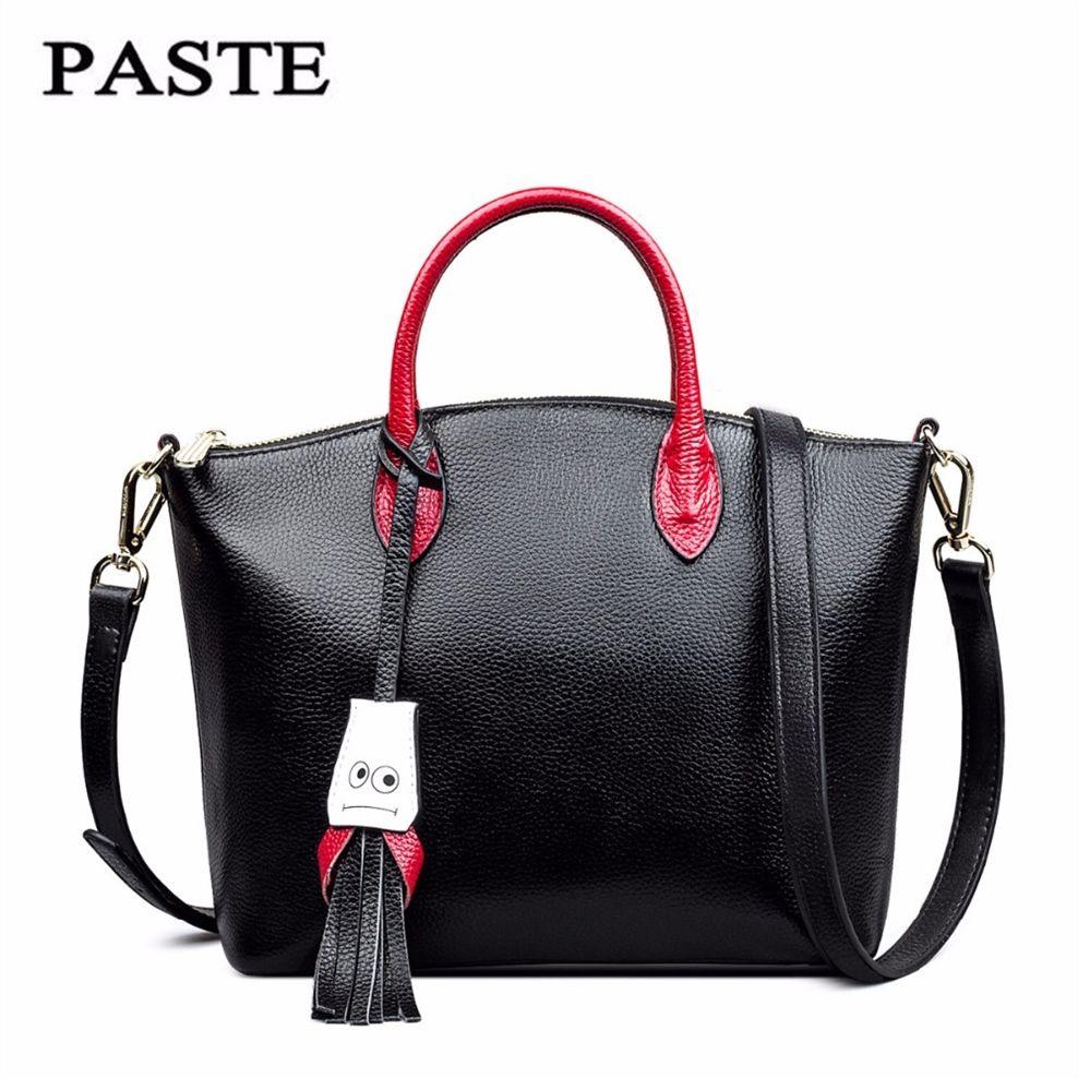 777450ab7e423 Großhandel Frauen Casual Tote Echtes Leder Handtasche Tasche Mode Vintage  Große Einkaufstasche Designer Crossbody Taschen Große Schulter Weiblich    275152 ...