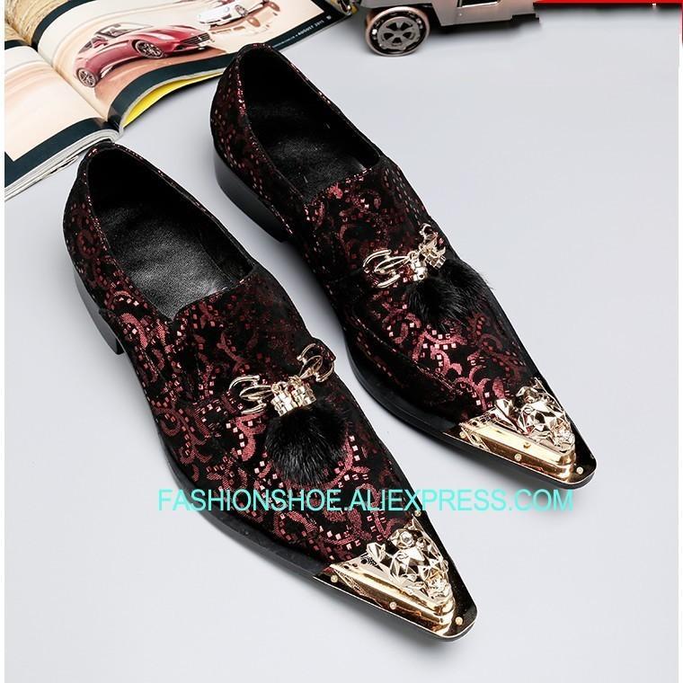 Gold Metal Toe Mens Oxfords Full Grain Leather Hombre Bridal Shoes Big Size  euro 46