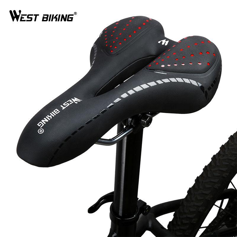 9670a366841 2019 WEST BIKING Bike Saddle Comfortable Cushion MTB Bicycle Accessories  Breathable Soft Seat Shockproof Silica Gel PU Cushion From Hupiju