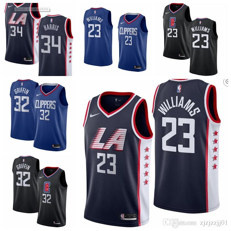 factory price 56d8a 52138 2019 23 Lou Williams Clippers Jersey The City Los Angeles 34 Harris  Basketball Jersey NEW